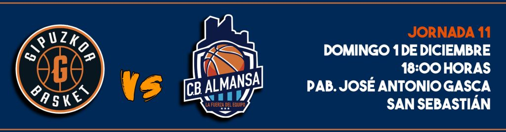Jornada 11- CB Almansa visita Gipuzkoa Basket