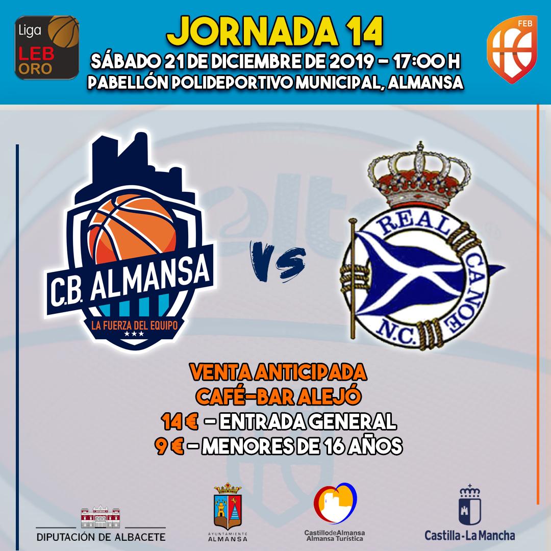Partido entre Afanion CB Almansa y ZTE Real Canoe de la jornada 14