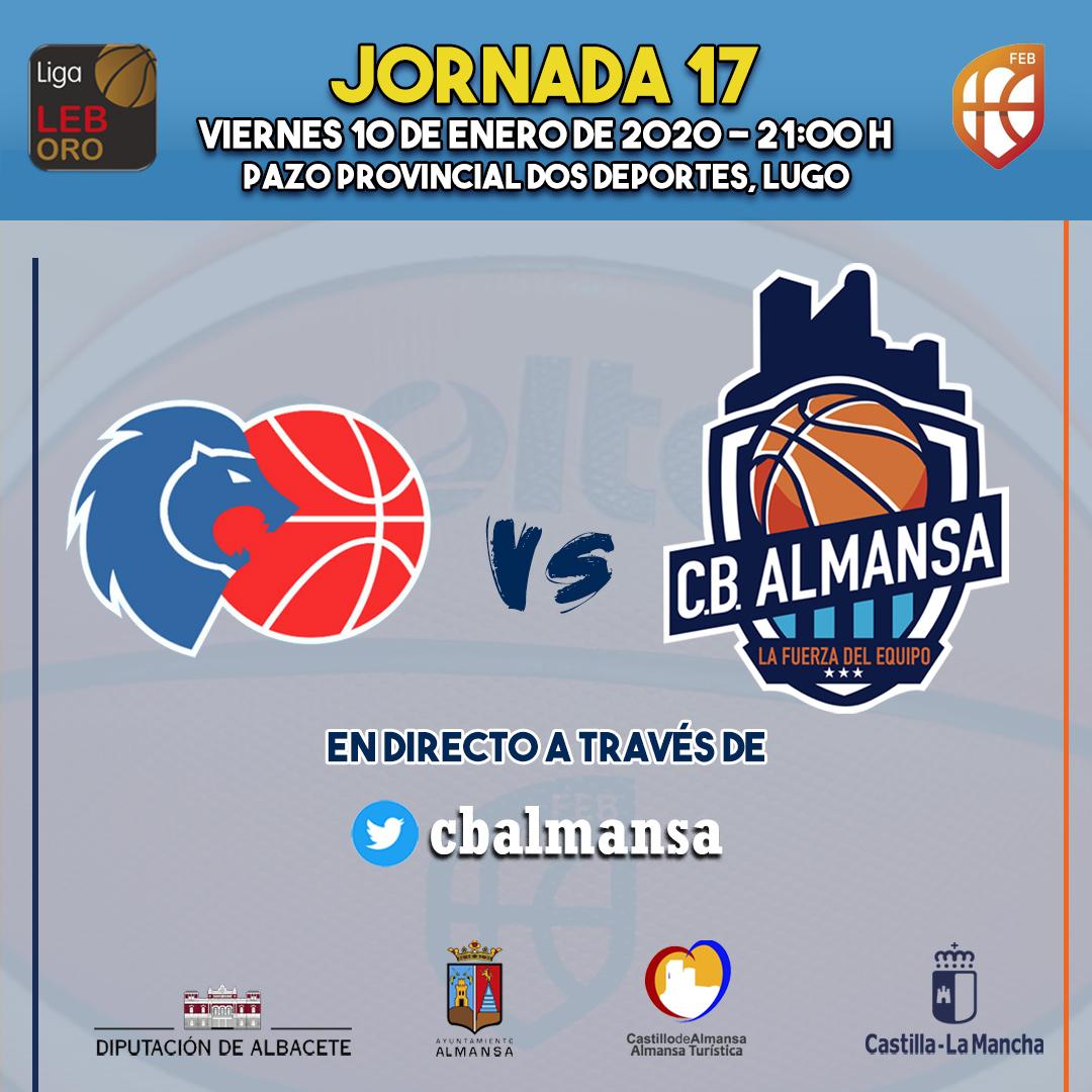 Cartel partido jornada 17 Leche Río Breogán Afanion CB Almansa