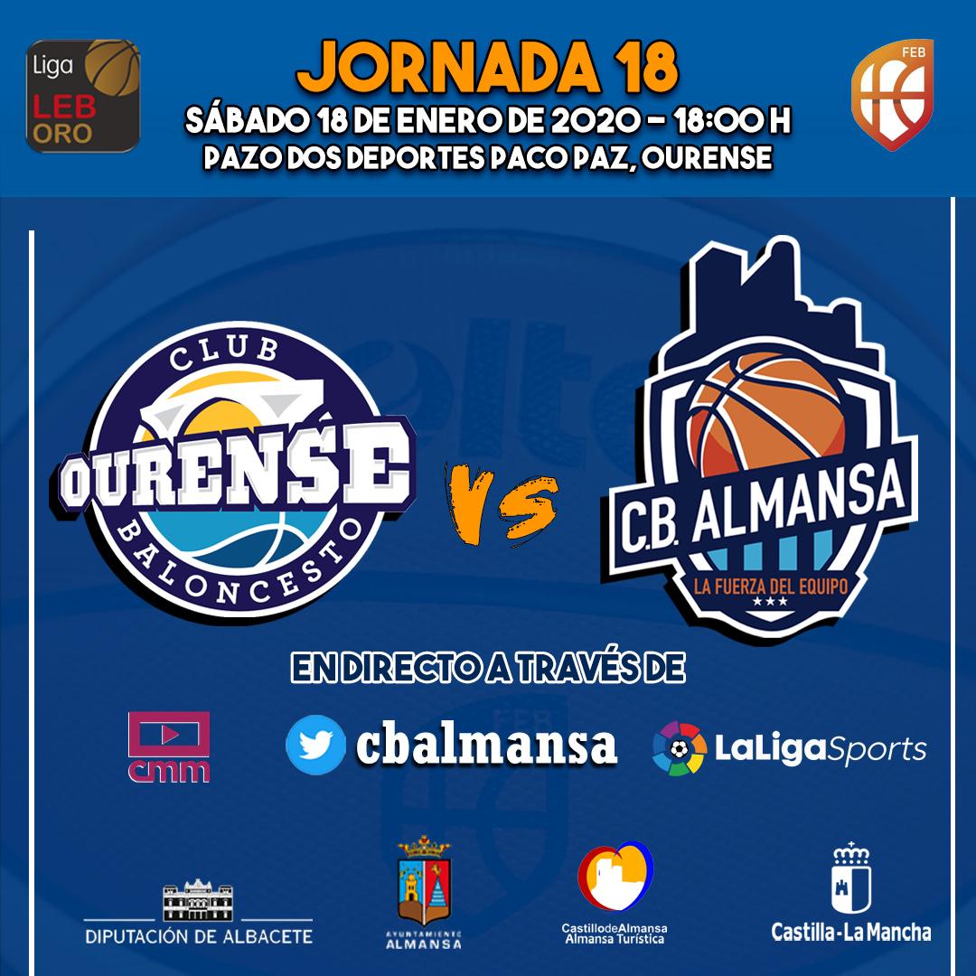 Previa Jornada 18 Club Ourense Baloncesto Afanion CB Almansa