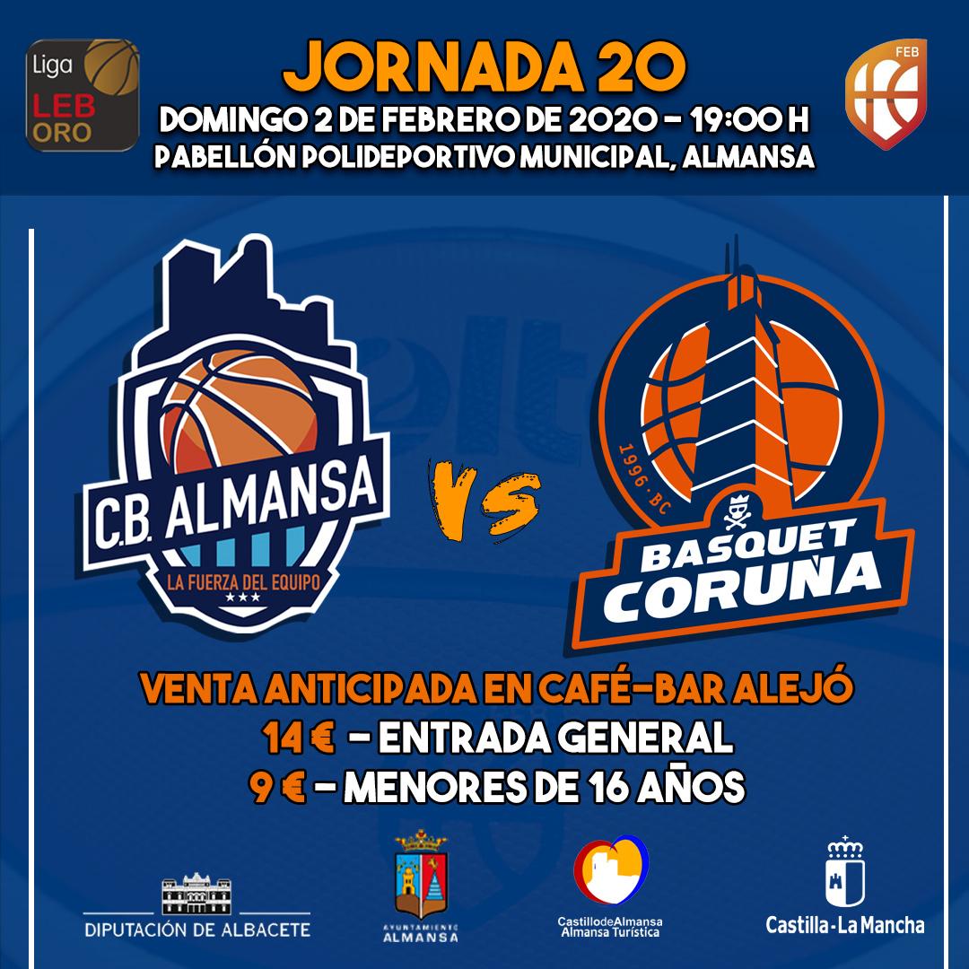 Jornada 20 CB Almansa contra LEYMA Coruña
