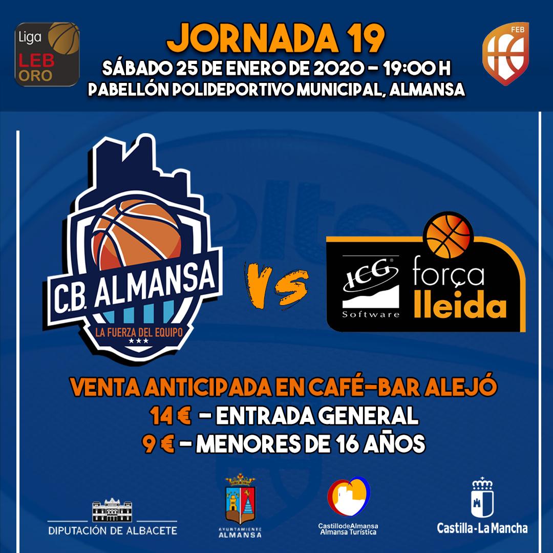 Jornada 19 Afanion CB Almansa ICG Força Lleida