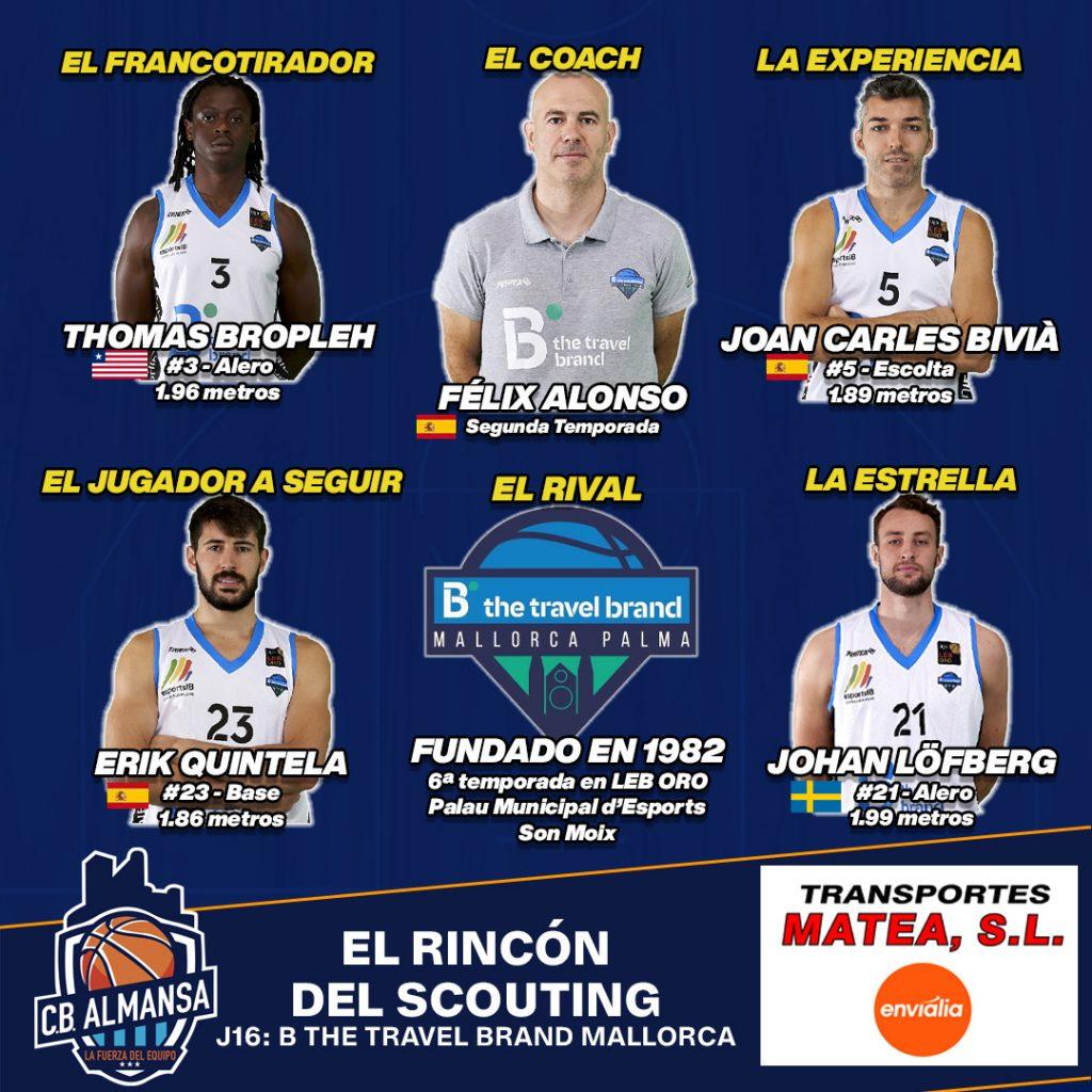 Scouting Afanion Almansa Mallorca jornada 16