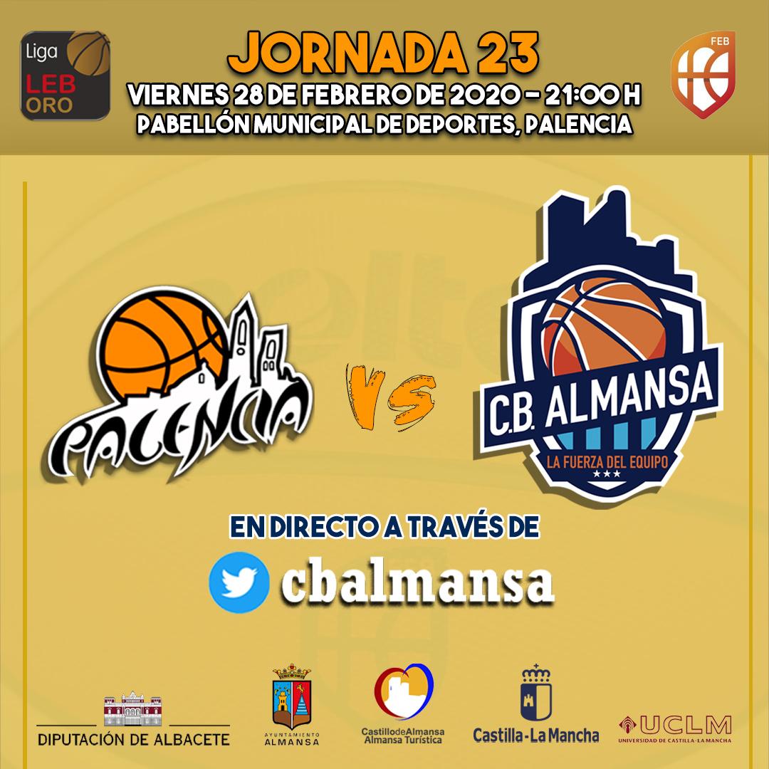Cartel jornada 23 Palencia Basket y Afanion CB Almansa