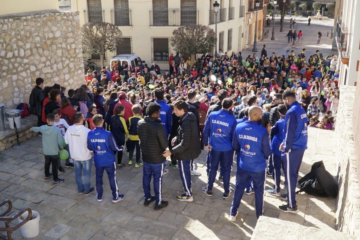 El Afanion CB Almansa en el evento del Día Internacional del Niño con Cáncer