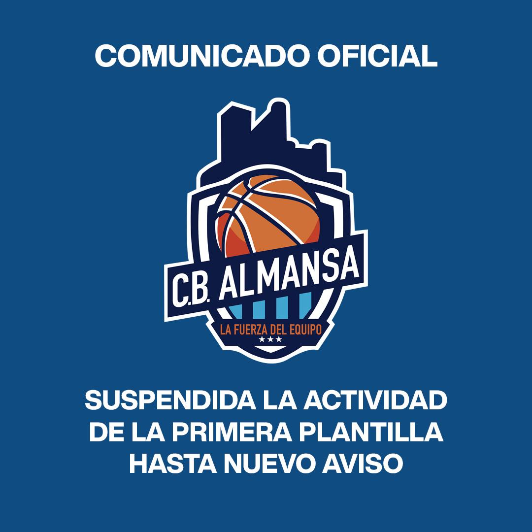 Supendida la actividad del primer equipo del CB Almansa hasta nuevo aviso