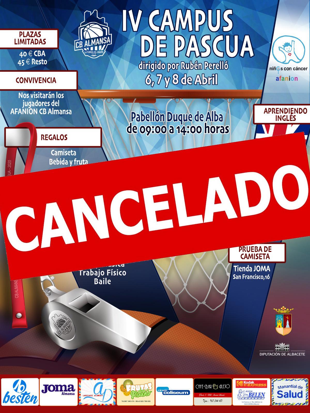 IV Campus de Pascua Cancelado