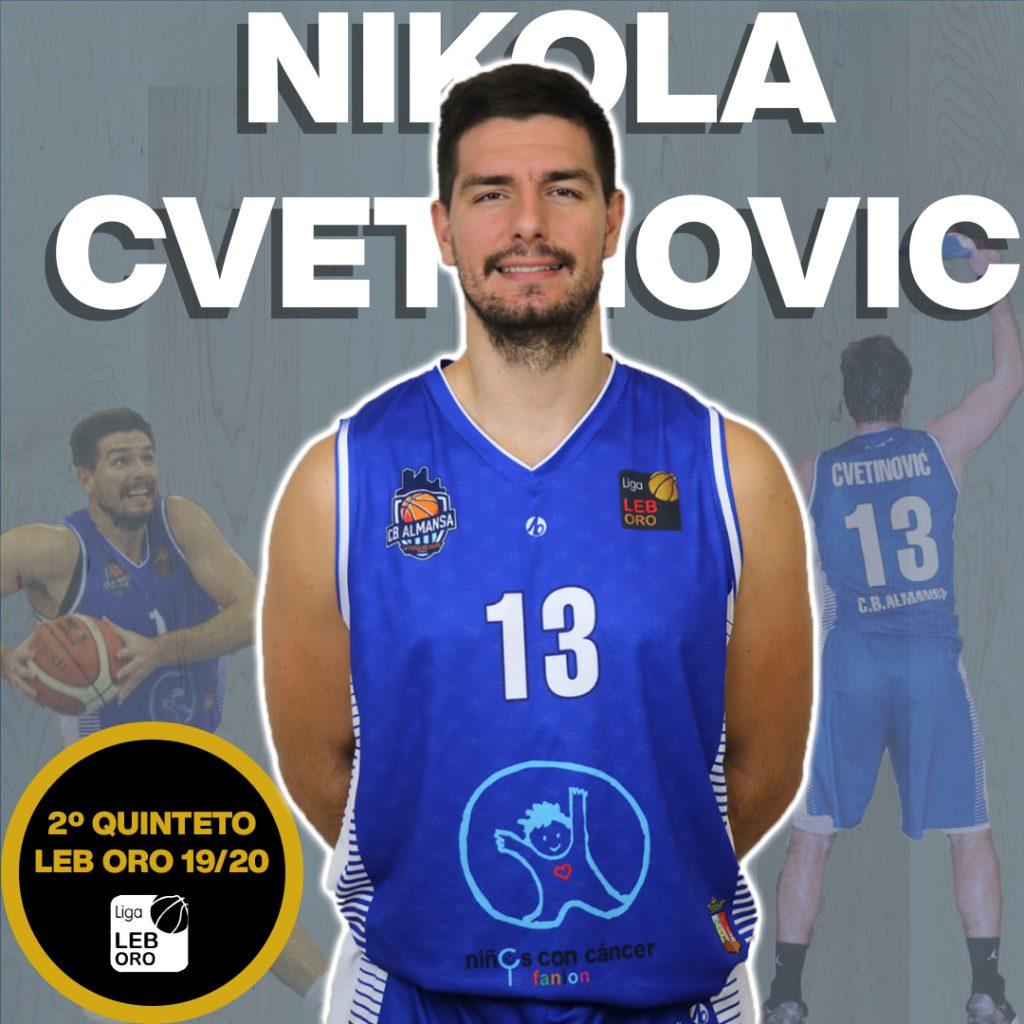 Nikola Cvetinovic, en el segundo quinteto de la LEB Oro