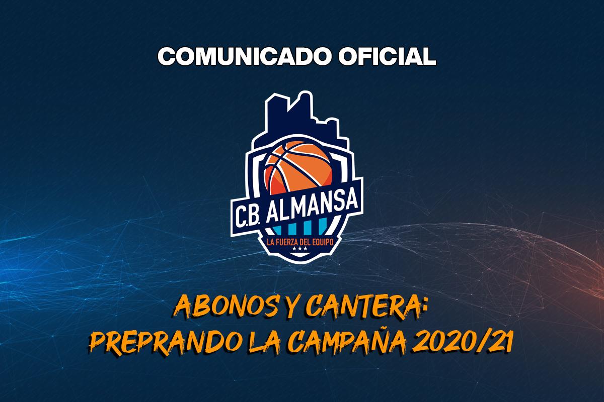 Comunicado CB Almansa Abonados y Cantera