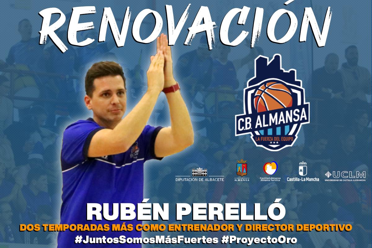 Rubén Perelló renueva dos temporadas con el CB Almansa