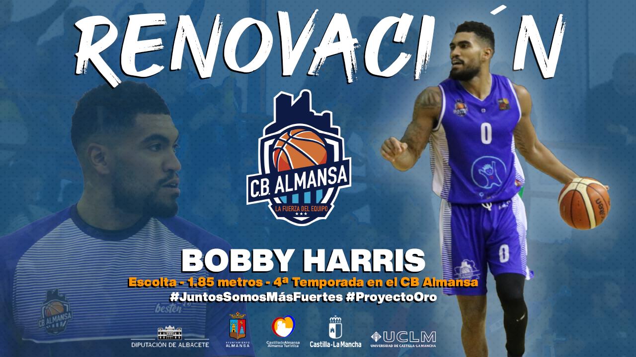 Bobby Harris jugará por cuarto año consecutivo en el CB Almansa