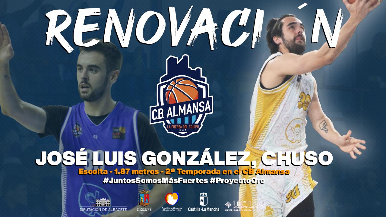 José Luis González, Chuso seguirá otra temporada más en el Afanion CB Almansa de LEB Oro