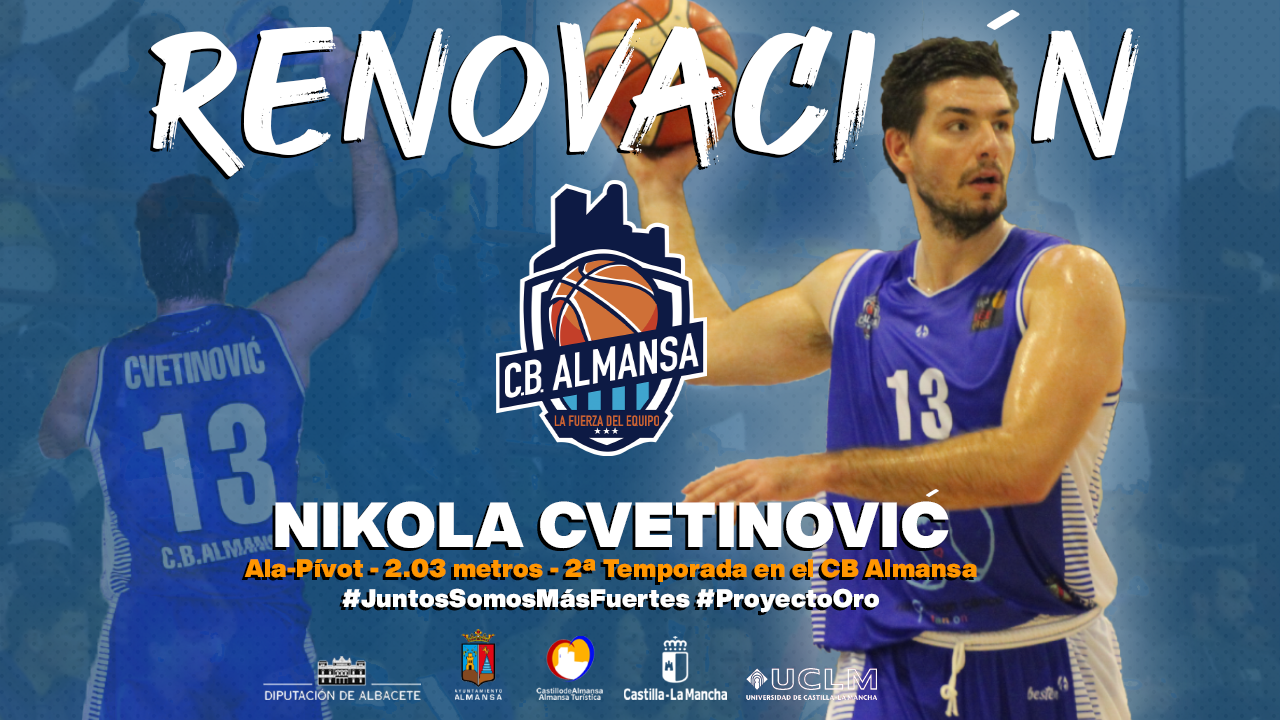 Nikola Cvetinovic otro año más en el CB Almansa