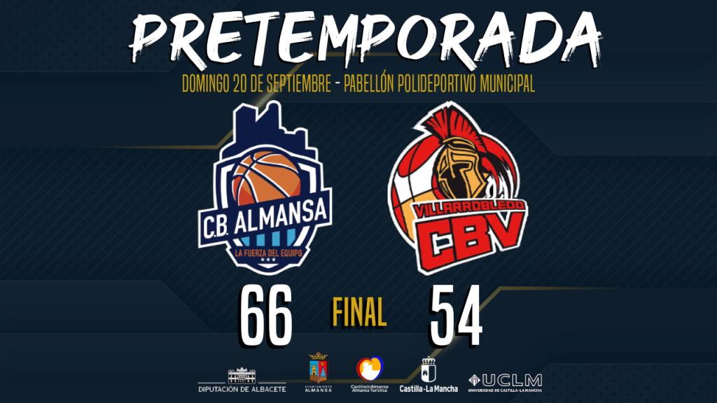 Resultado final del CB Almansa con AFANION ante El Ventero CB Villarrobledo