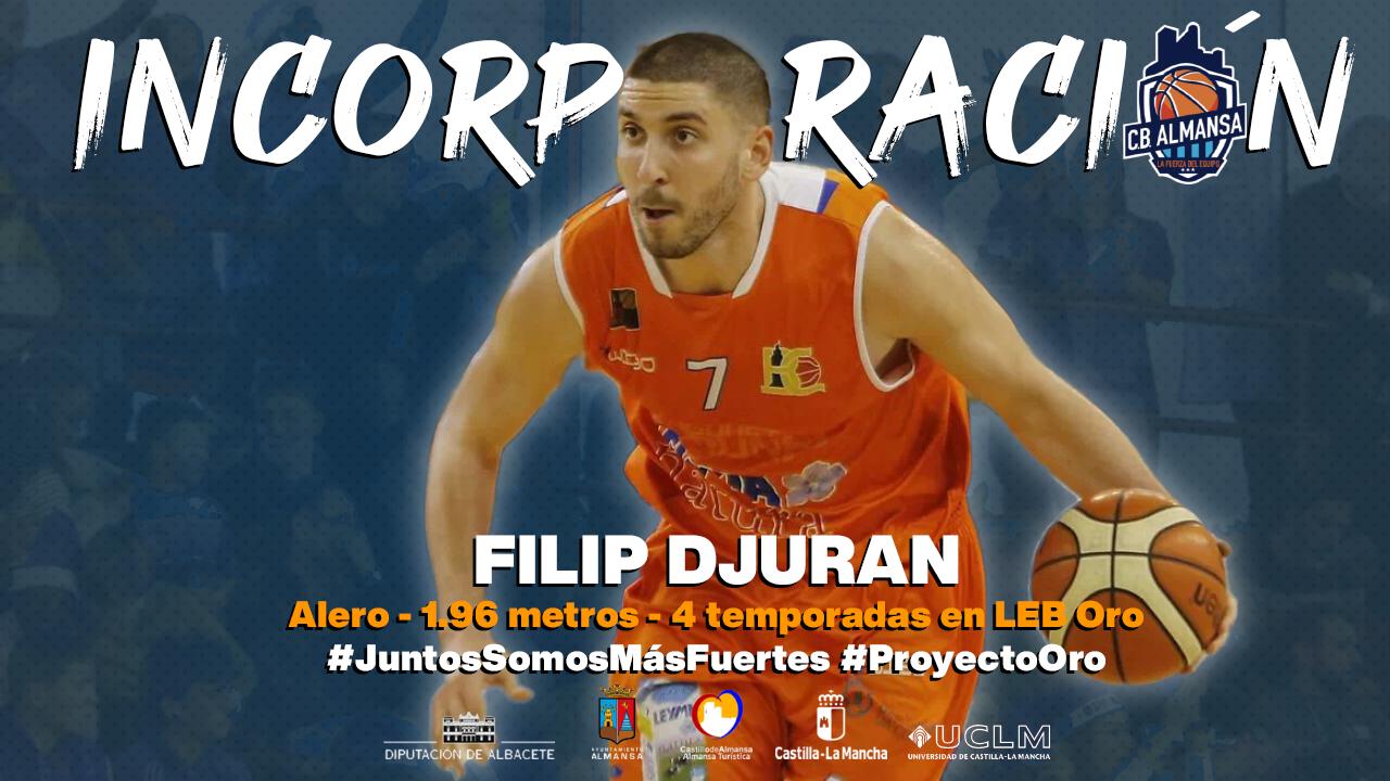 Filip Djuran, alero del CB Almansa