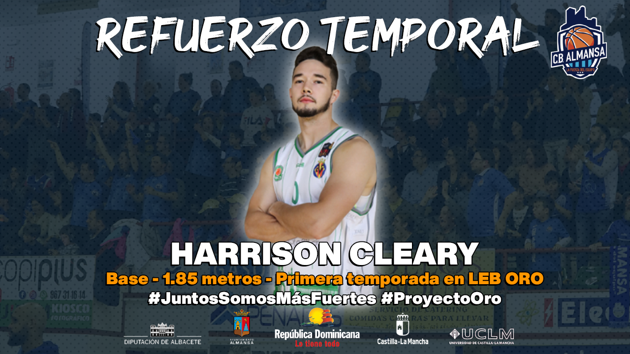 Harrison Cleary, nuevo base para el CB Almansa con AFANION