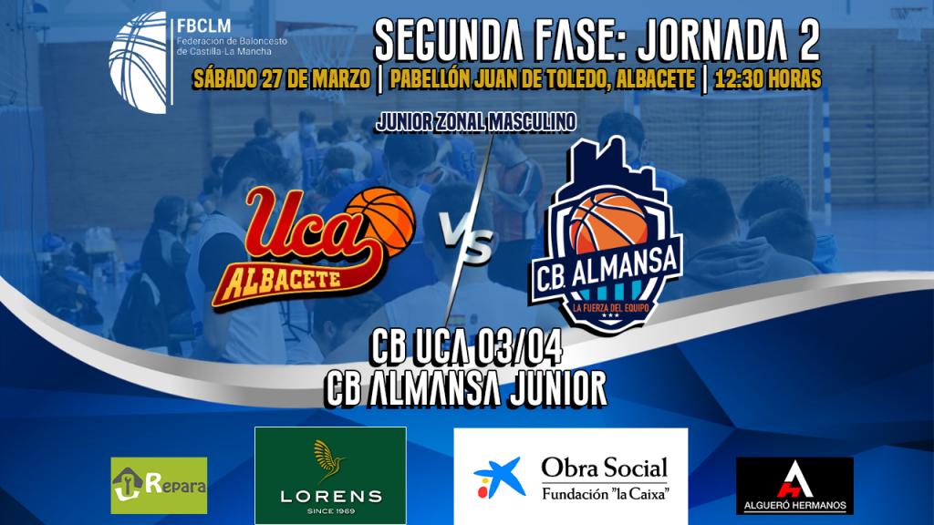 CB UCA y CB Almansa se enfrentarán en la segunda fase