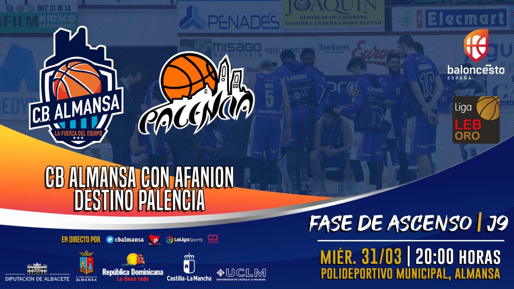 Fecha anunciada: CB Almansa con AFANION - Destino Palencia