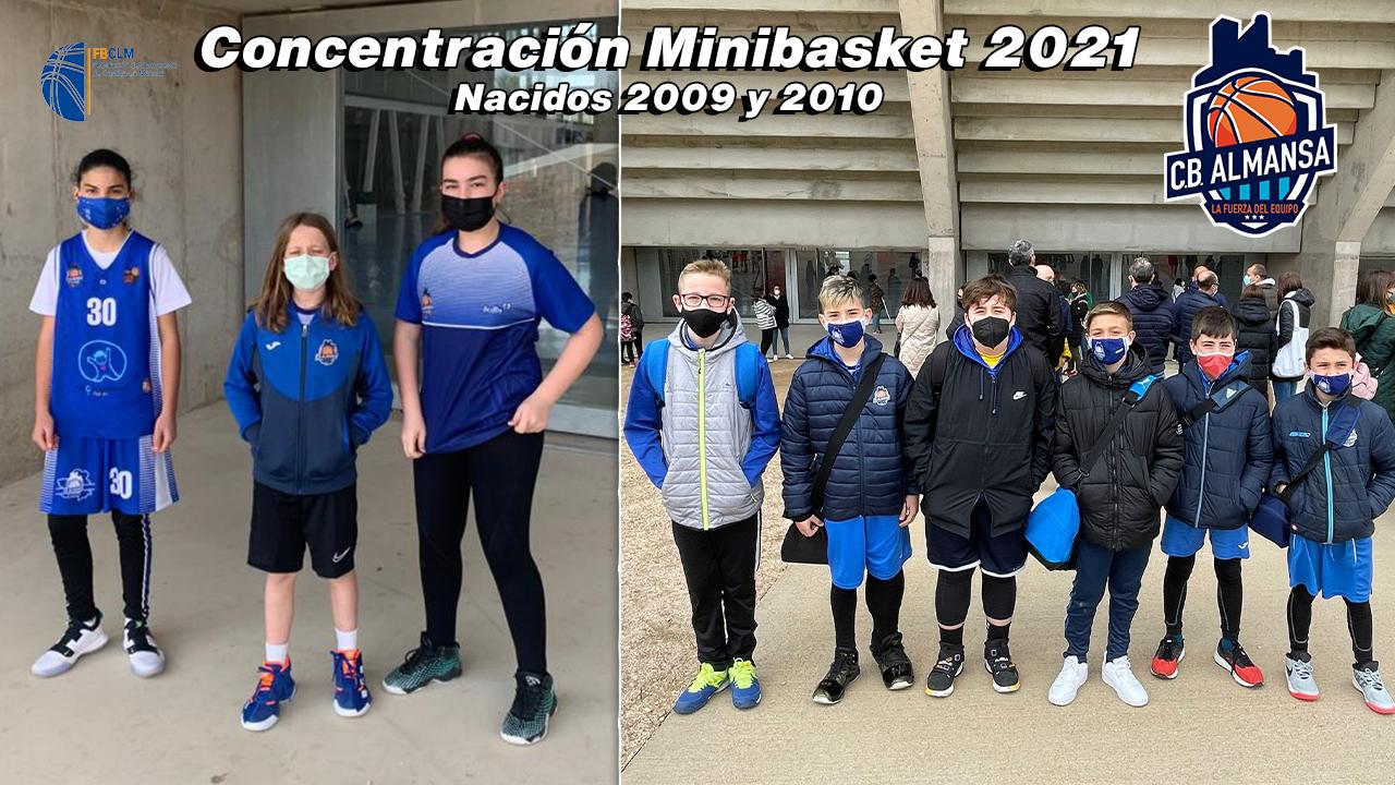Cantera CB Almansa concentración minibasket 2021 FBCLM