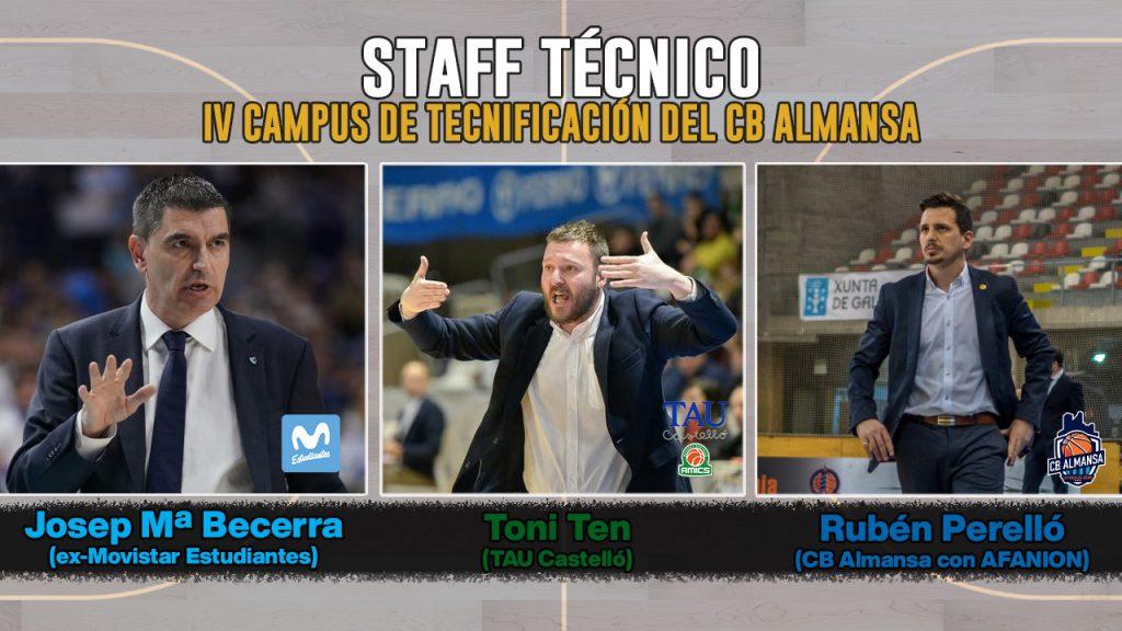 Entrenadores del más alto nivel Campus Tecnificación CB Almansa
