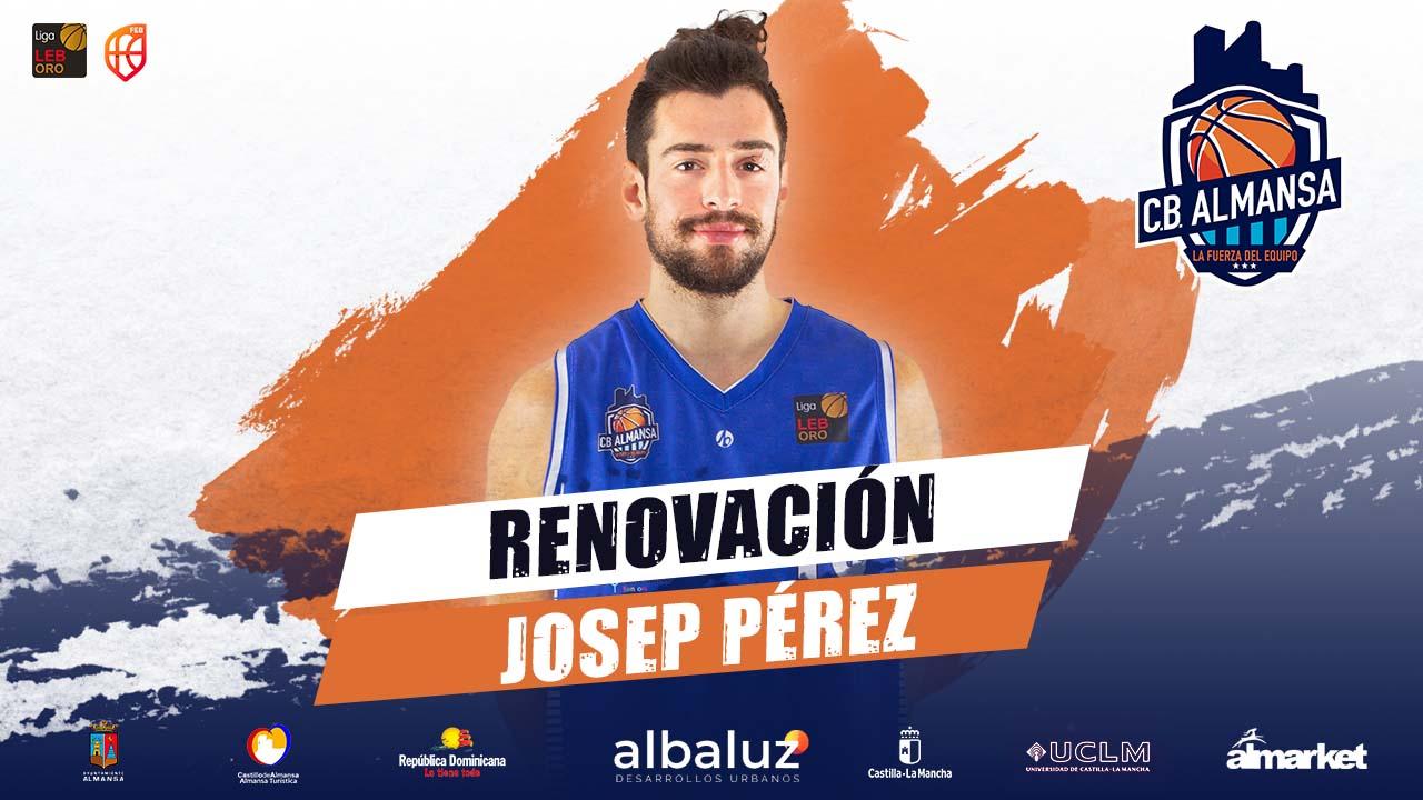 Josep Pérez, primera pieza del proyecto 2021-2022