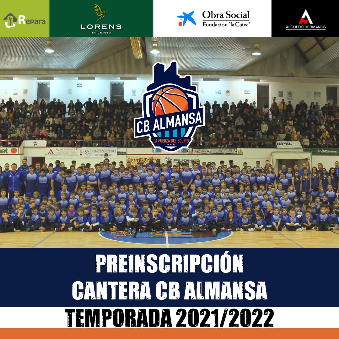Accede al formulario de preinscripción de la Cantera del CB Almansa