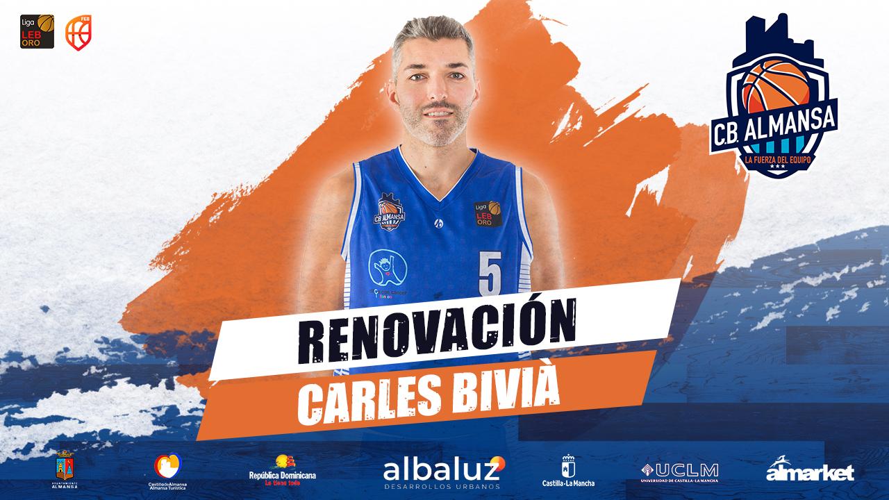 Carles Bivià renueva con el CB Almansa con AFANION