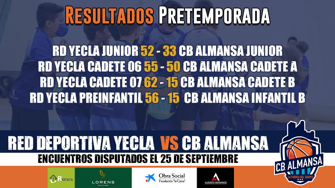 Pretemporada Cantera CB Almansa - Yecla